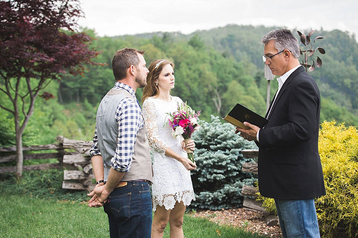 North Carolina elopement ceremony
