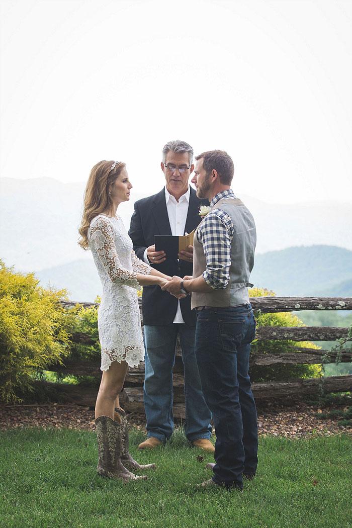 North Carolina elopement ceremony