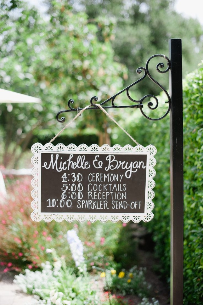 reception sign