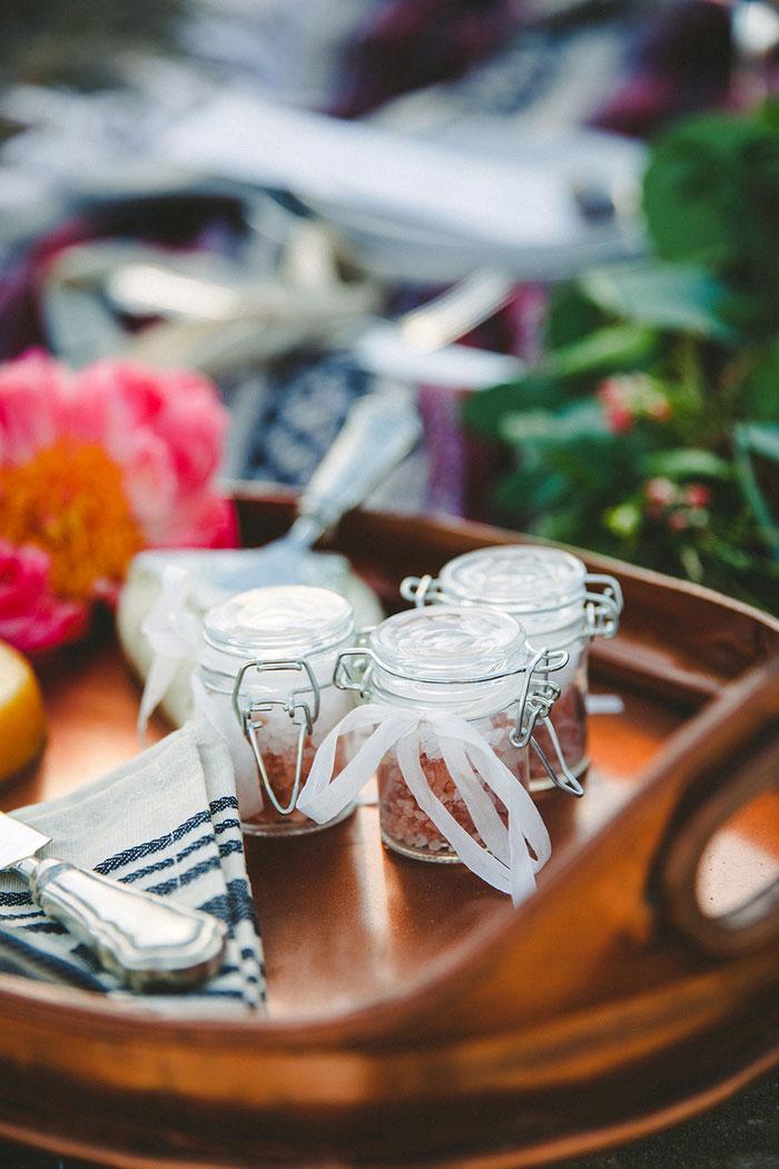 boho wedding picnic spread