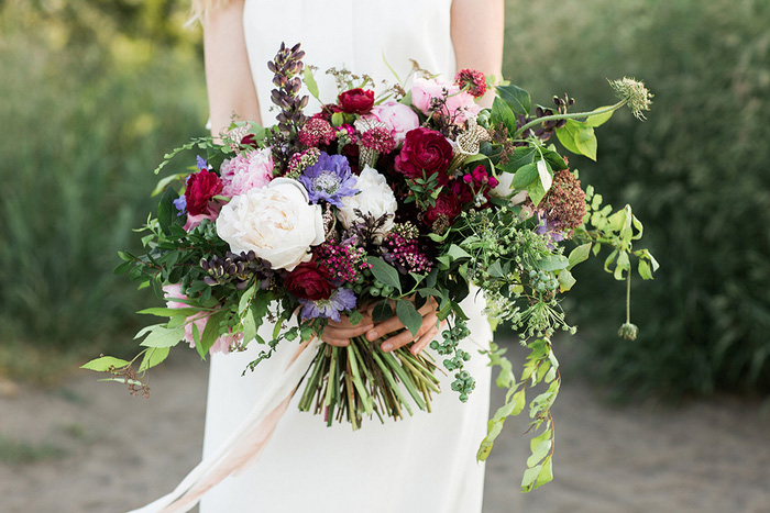 oversized boho wedding bouquet