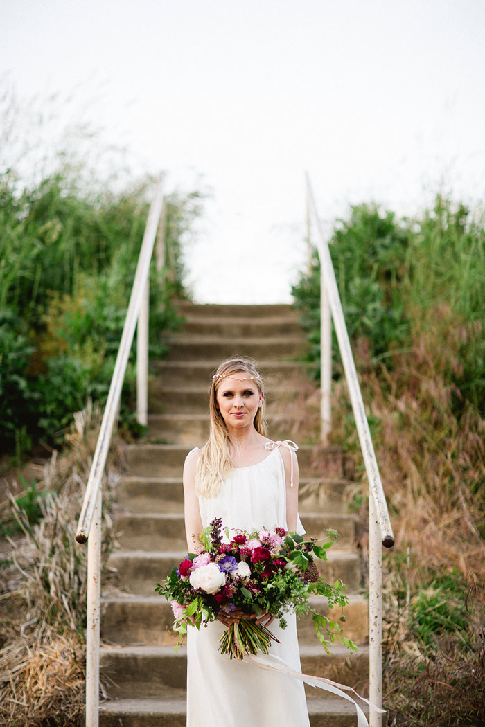 boho bridal portrait