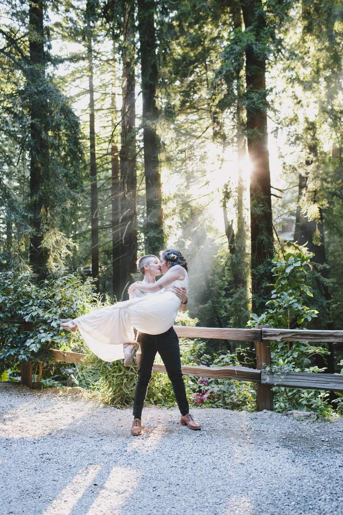 bride carrying her bride