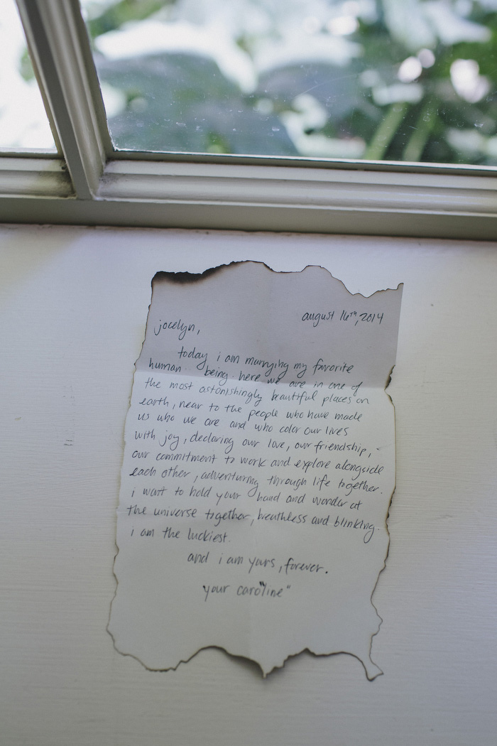 bride's letter