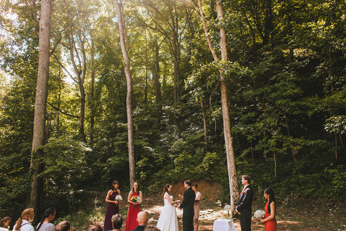 outdoor Kentucky wedding ceremony