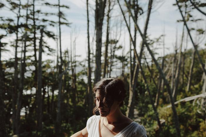 bride portrait in B.C.
