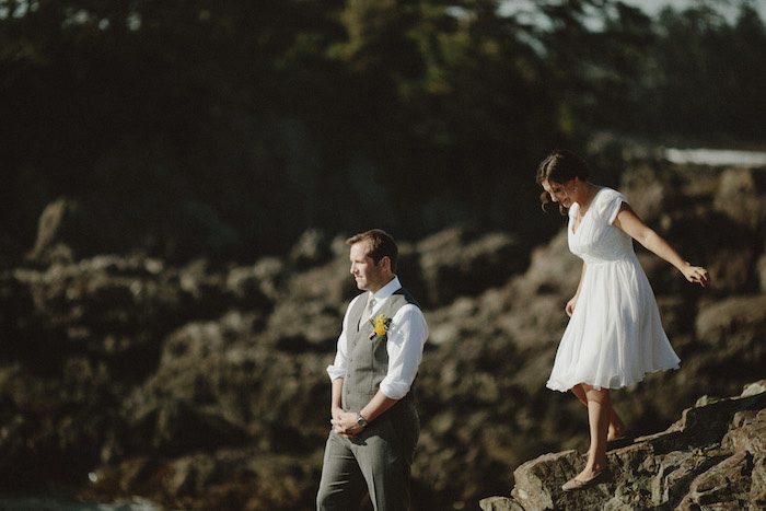 first look session by the ocean