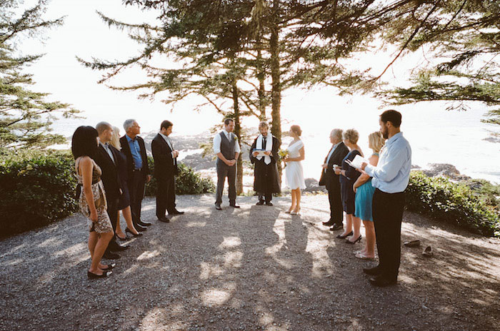 outdoor Ucluelet wedding ceremony