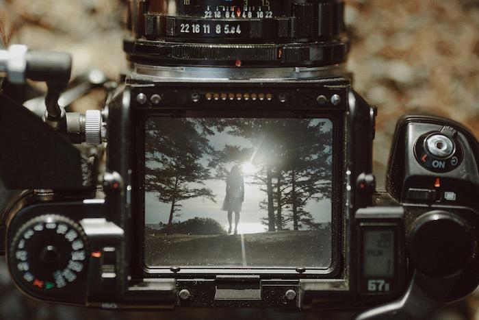 back of camera shot