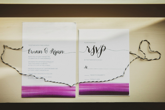 water-colour wedding invitations