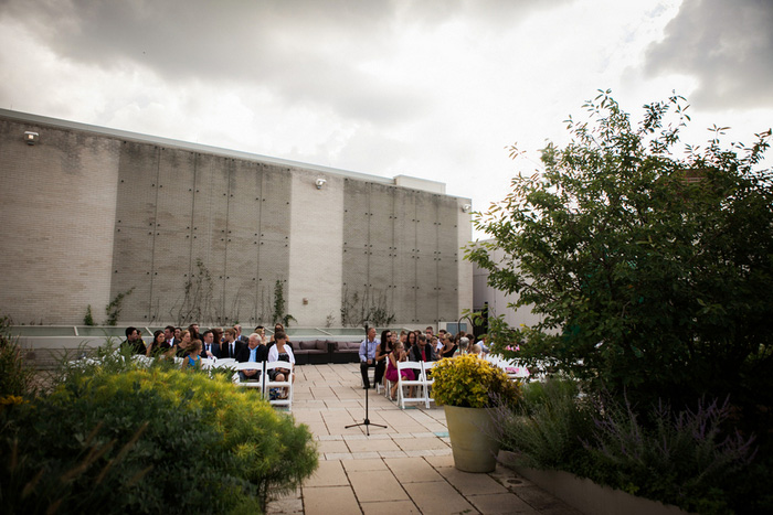 Museum rooftop wedding ceremony