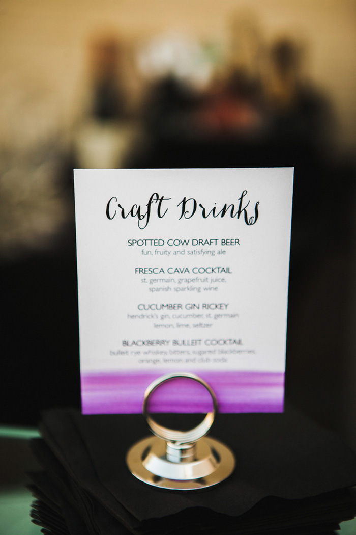 water-colour wedding drink sign