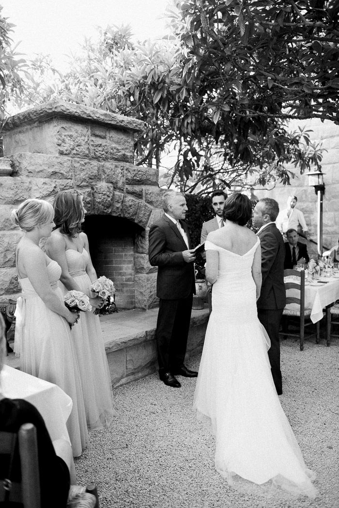 San Ysidro ranch wedding ceremony