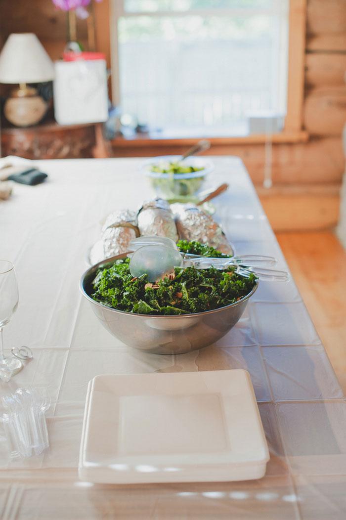 intimate wedding buffet