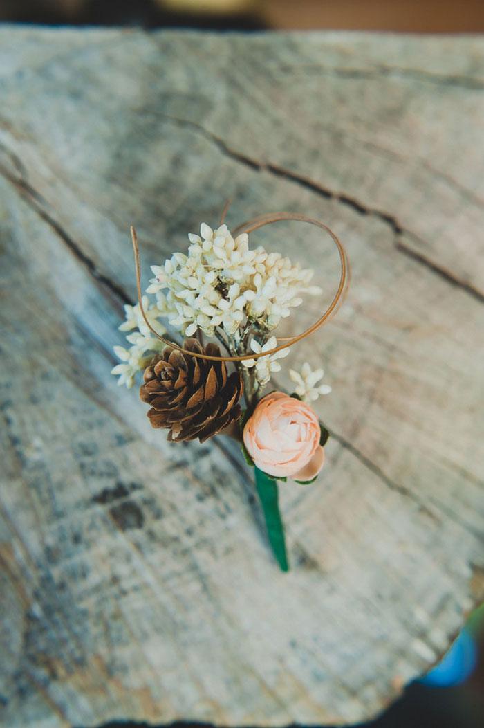 pine cone boutonniere