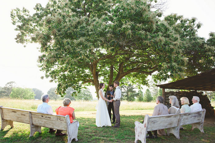 Backyard Alabama wedding