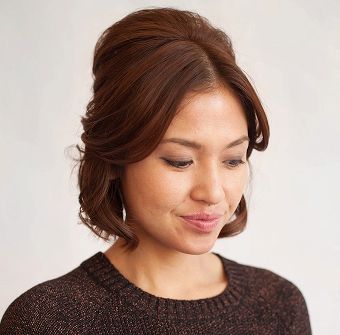updo for short hair