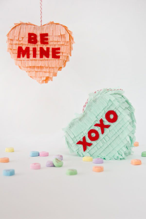 candy heart pinata