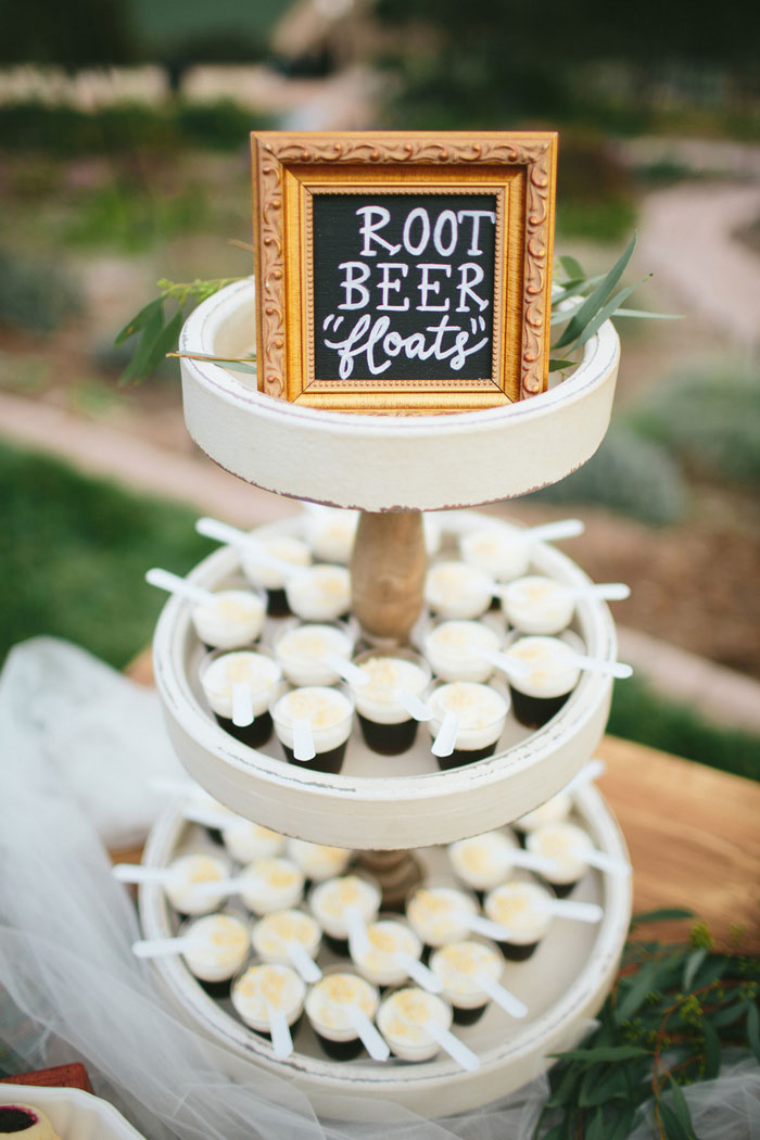 root beer floats wedding desserts