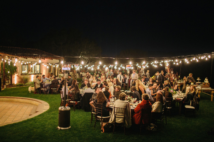 casitas estate wedding reception