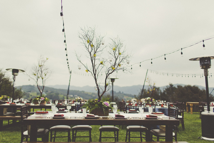 casitas estate outdoor wedding reception set-up