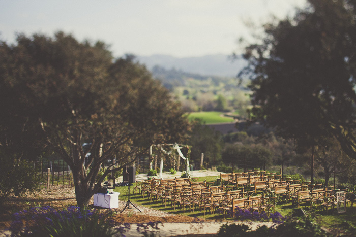 Casitas Estate outdoor wedding ceremony set-up