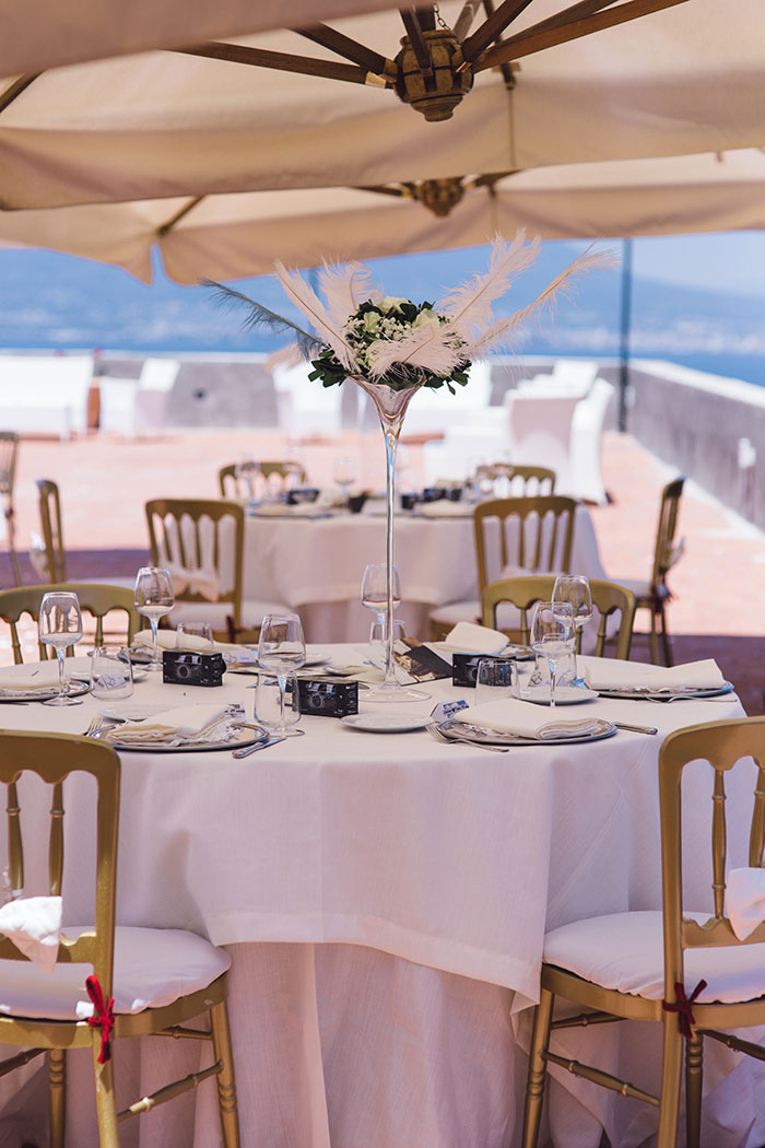 Italian wedding reception table set-up