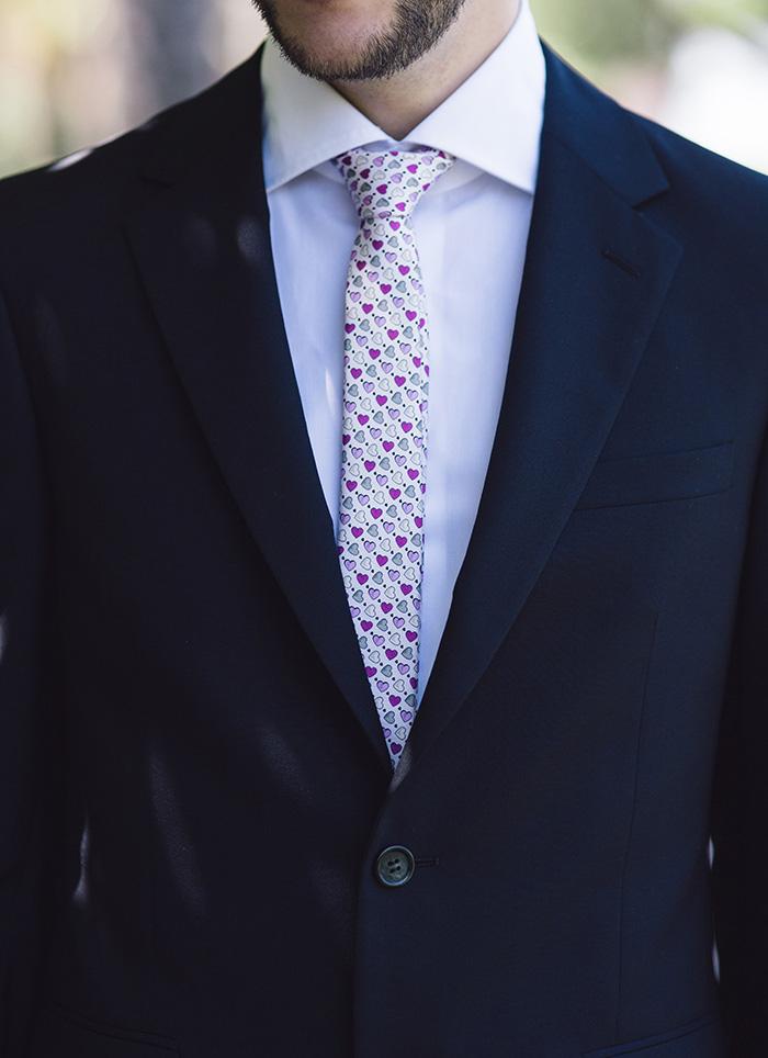 groom's heart tie