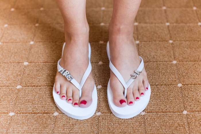 2a68519ea flipflops. Enjoy samples or try a different variety of bath and beauty  products at your spa bridal shower