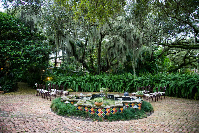 Fort Lauderdale outdoor wedding ceremony site
