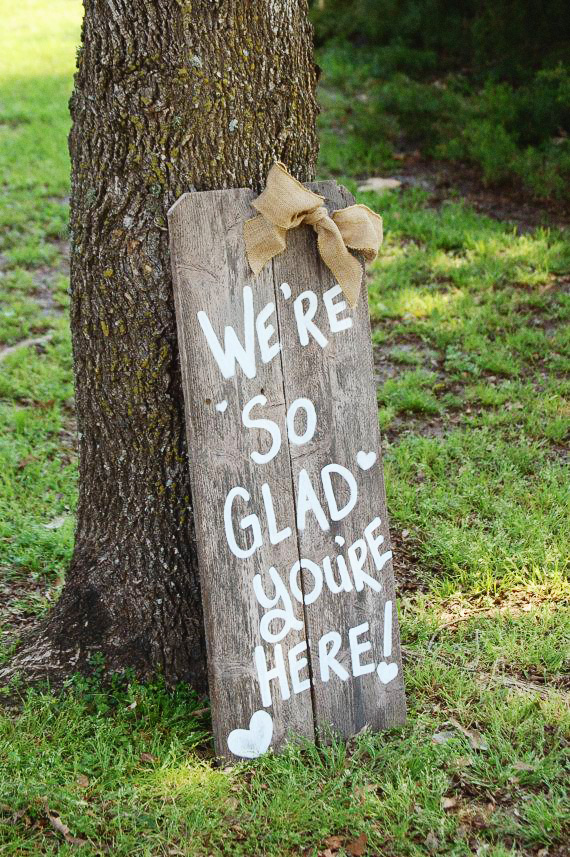 glad sign wedding