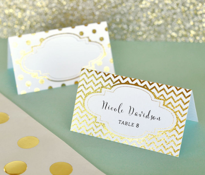 12 perfect place cards for Table place cards