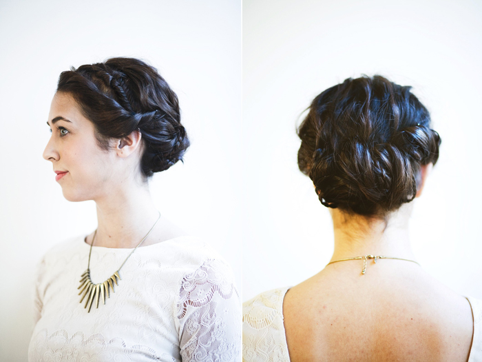 Short hair updos with headbands photo