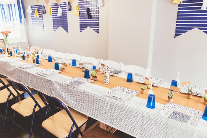 at-home wedding reception set-up