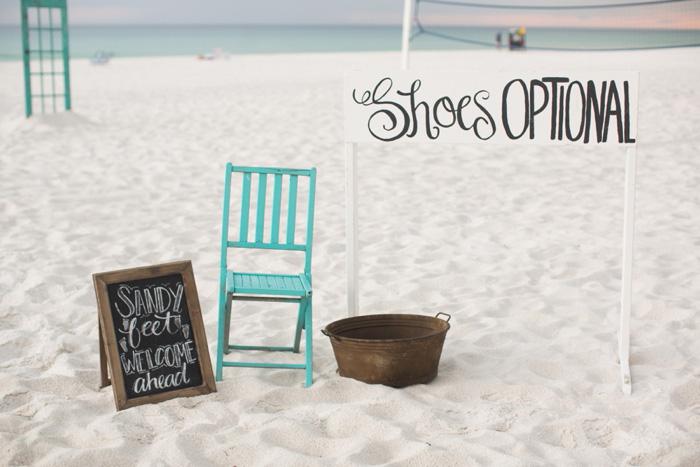 beach wedding signs