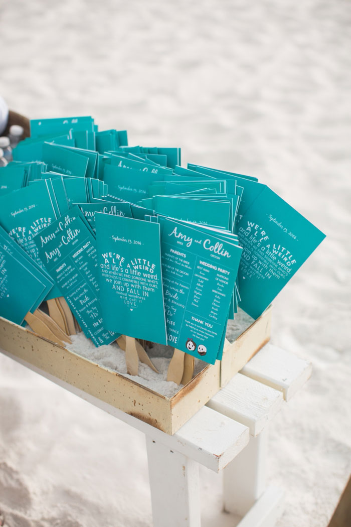 turquoise beach ceremony wedding programs
