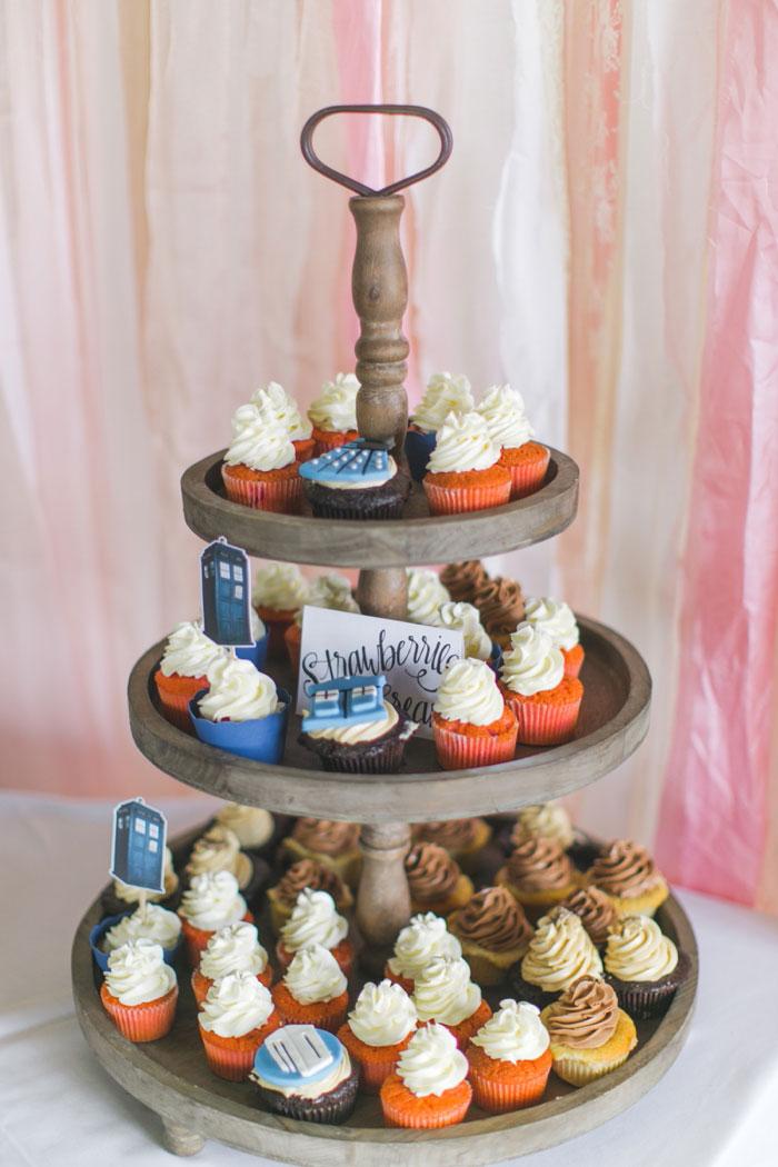 Dr. Who wedding cupcakes