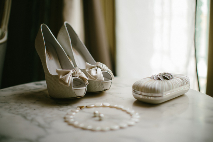bride's accessories laid out