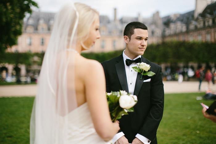 elopement ceremony in Paris