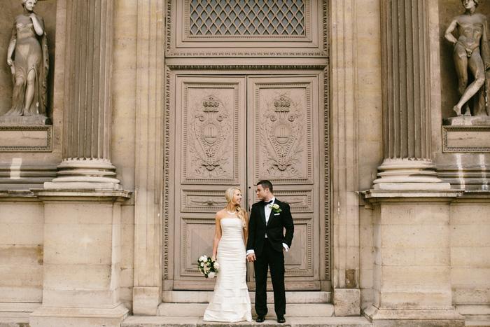 Paris elopement portrait