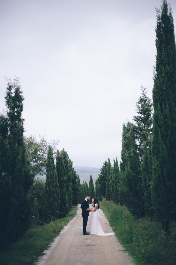 intimate tuscany wedding