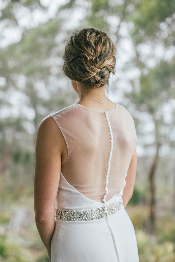 bride portrait front the back