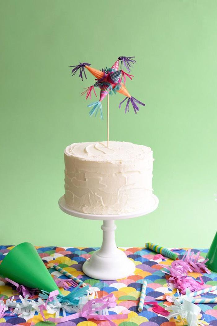 piñata cake topper