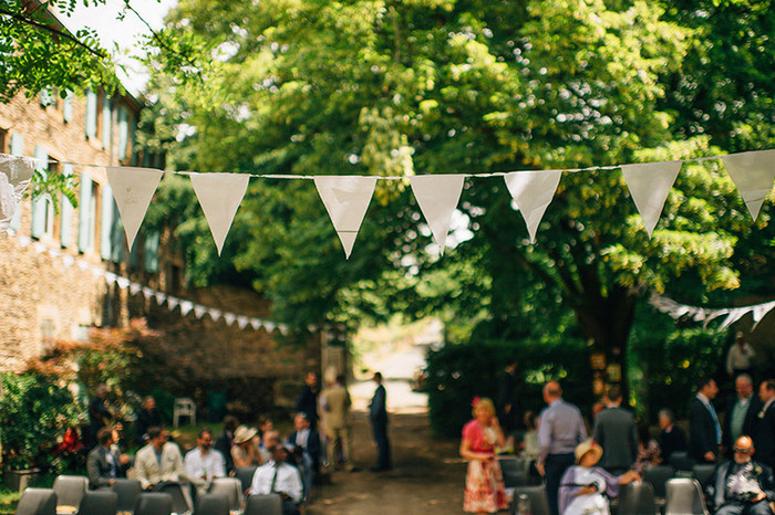 bunting at ceremony