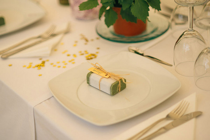 wedding favour on plate