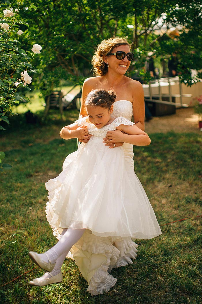 bride swinging young guest