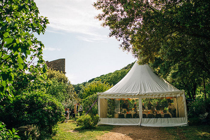 wedding tent in franc countryside
