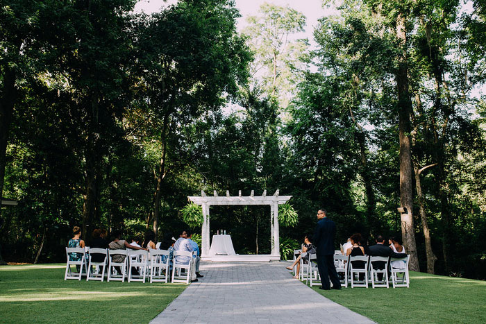 outdoor wedding ceremony set-up