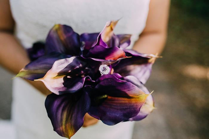 wedding ring in bouquet