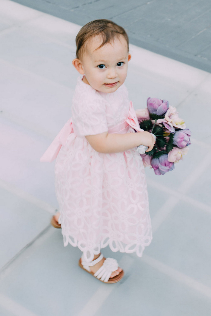 young flowergirl